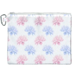 Blue And Pink Flowers Vector Clipart Canvas Cosmetic Bag (xxxl) by goodart
