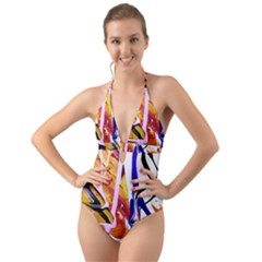 Immediate Attraction 6 Halter Cut-out One Piece Swimsuit by bestdesignintheworld