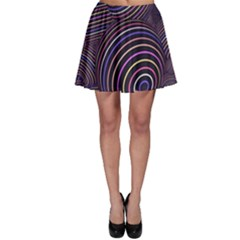 Abtract Colorful Spheres Skater Skirt