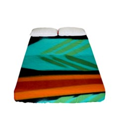 Abstract Art Artistic Fitted Sheet (full/ Double Size) by Modern2018