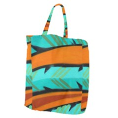 Abstract Art Artistic Giant Grocery Zipper Tote by Modern2018