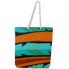 Abstract Art Artistic Full Print Rope Handle Tote (large) by Modern2018