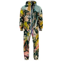 Abstract Art Berlin Hooded Jumpsuit (men)  by Modern2018