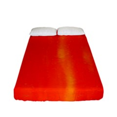 Abstract Orange Fitted Sheet (full/ Double Size) by Modern2018