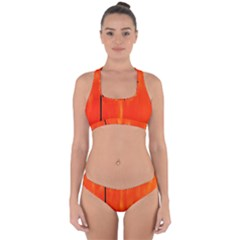 Abstract Orange Cross Back Hipster Bikini Set by Modern2018