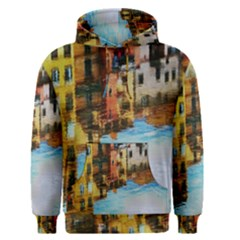 Architecture Art Blue Men s Pullover Hoodie by Modern2018
