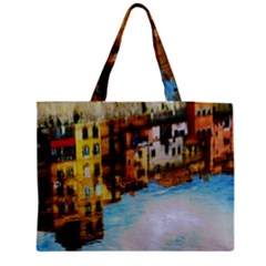 Architecture Art Blue Medium Tote Bag by Modern2018