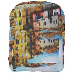 Architecture Art Blue Full Print Backpack by Modern2018