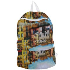 Architecture Art Blue Foldable Lightweight Backpack
