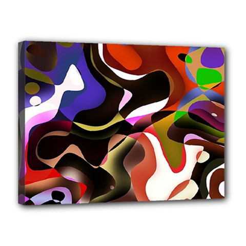 Abstract Full Colour Background Canvas 16  X 12  by Modern2018