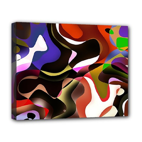 Abstract Full Colour Background Deluxe Canvas 20  X 16   by Modern2018