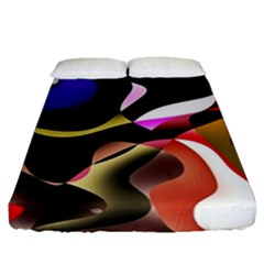 Abstract Full Colour Background Fitted Sheet (queen Size) by Modern2018