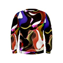 Abstract Full Colour Background Kids  Sweatshirt by Modern2018