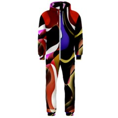 Abstract Full Colour Background Hooded Jumpsuit (men)  by Modern2018
