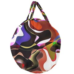 Abstract Full Colour Background Giant Round Zipper Tote