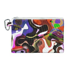 Abstract Full Colour Background Canvas Cosmetic Bag (large) by Modern2018