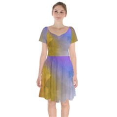 Abstract Smooth Background Short Sleeve Bardot Dress by Modern2018