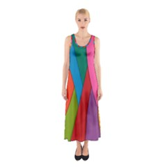 Abstract Background Colrful Sleeveless Maxi Dress by Modern2018