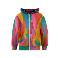 Abstract Background Colrful Kids  Zipper Hoodie by Modern2018