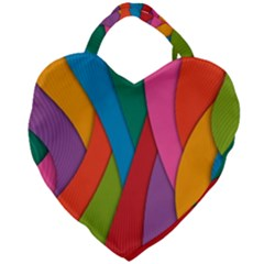 Abstract Background Colrful Giant Heart Shaped Tote by Modern2018