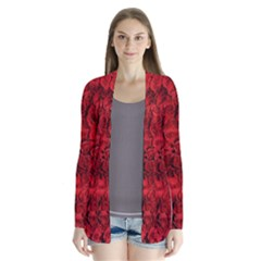 Arranged Flowers Love Drape Collar Cardigan by goodart