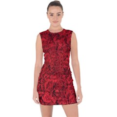 Arranged Flowers Love Lace Up Front Bodycon Dress by goodart