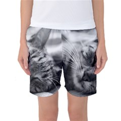 Adorable Animal Baby Cat Women s Basketball Shorts