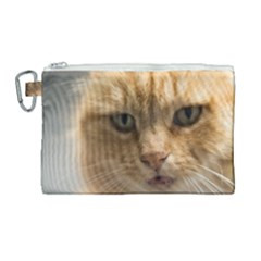 Animal Pet Cute Close Up View Canvas Cosmetic Bag (large) by goodart