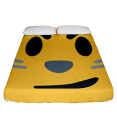 Cat Emoji Fitted Sheet (queen Size) by goodart