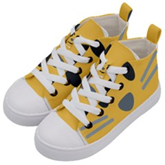 Cat Emoji Kid s Mid Top Canvas Sneakers by goodart