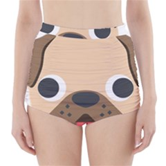 Dog Emojione High Waisted Bikini Bottoms