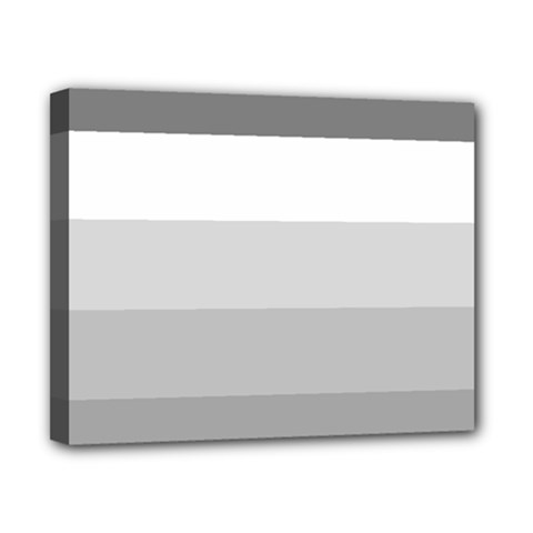 Elegant Shades Of Gray Stripes Pattern Striped Canvas 10  X 8  by yoursparklingshop