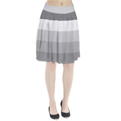 Elegant Shades Of Gray Stripes Pattern Striped Pleated Skirt