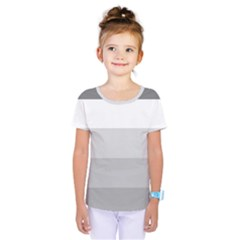 Elegant Shades Of Gray Stripes Pattern Striped Kids  One Piece Tee