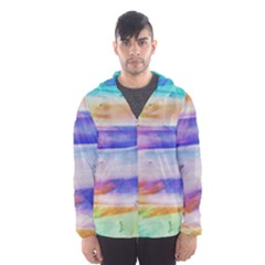 Background Color Splash Hooded Wind Breaker (men) by goodart