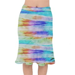 Background Color Splash Mermaid Skirt by goodart