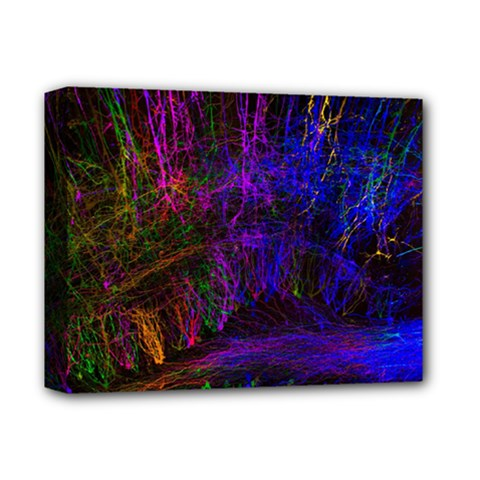 Color Splash Trail Deluxe Canvas 14  X 11  by goodart