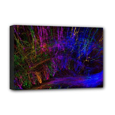 Color Splash Trail Deluxe Canvas 18  X 12   by goodart