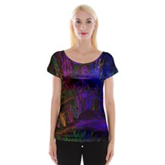Color Splash Trail Cap Sleeve Tops by goodart