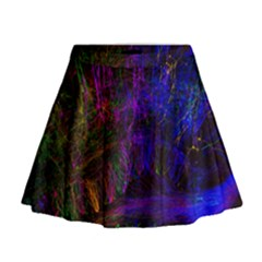 Color Splash Trail Mini Flare Skirt by goodart