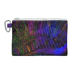 Color Splash Trail Canvas Cosmetic Bag (large)