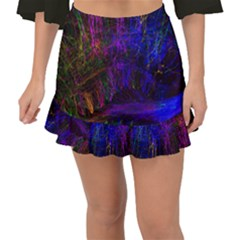 Color Splash Trail Fishtail Mini Chiffon Skirt by goodart