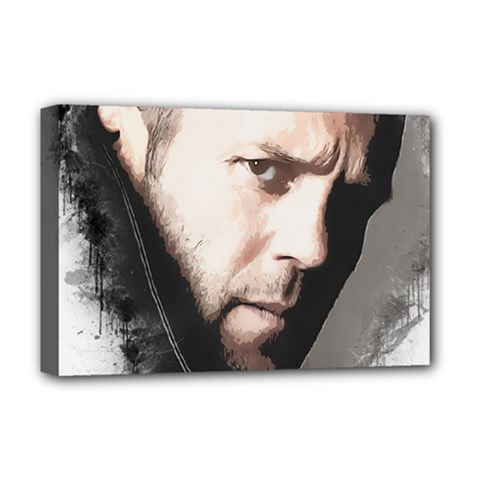 A Tribute To Jason Statham Deluxe Canvas 18  X 12   by Naumovski