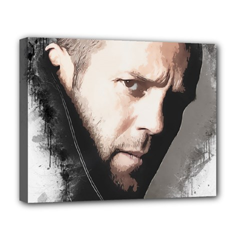 A Tribute To Jason Statham Deluxe Canvas 20  X 16   by Naumovski