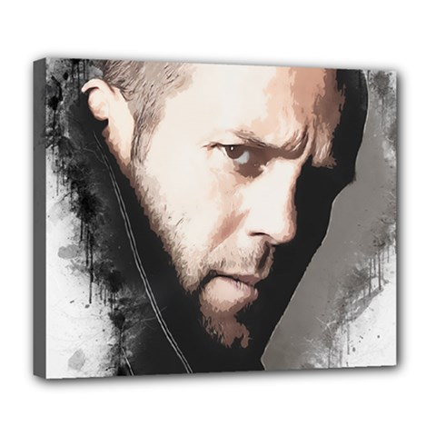 A Tribute To Jason Statham Deluxe Canvas 24  X 20   by Naumovski