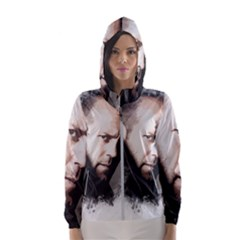 A Tribute To Jason Statham Hooded Wind Breaker (women) by Naumovski