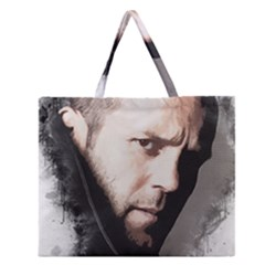 A Tribute To Jason Statham Zipper Large Tote Bag by Naumovski