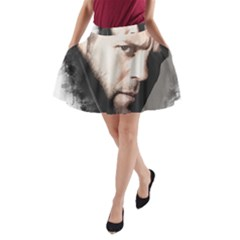 A Tribute To Jason Statham A Line Pocket Skirt by Naumovski