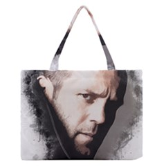A Tribute To Jason Statham Zipper Medium Tote Bag by Naumovski