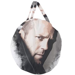 A Tribute To Jason Statham Giant Round Zipper Tote by Naumovski
